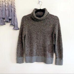Rachel Zoe • boucle nubby knit turtleneck sweater